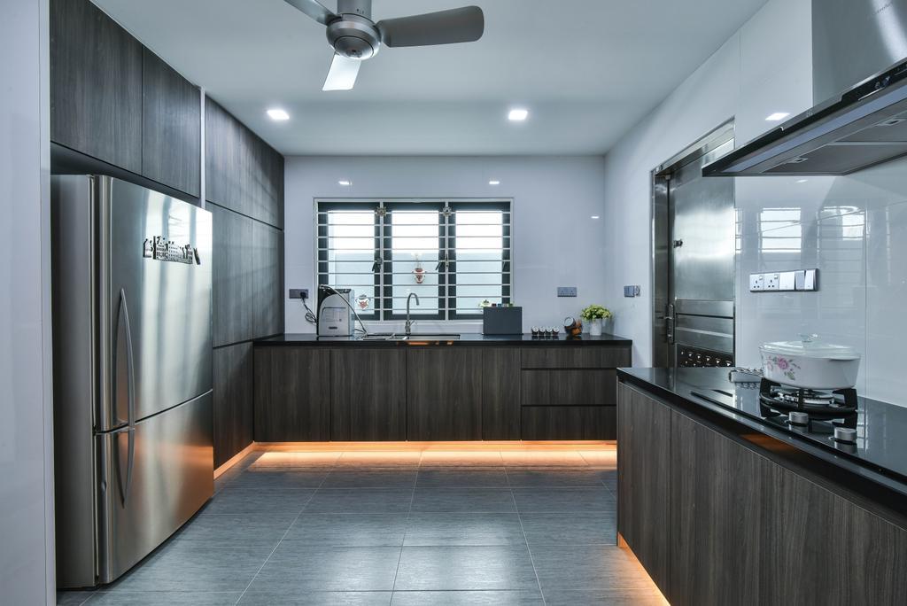 Modern, Landed, Kitchen, Sierra Damansara, Interior Designer, Surface R Sdn. Bhd.