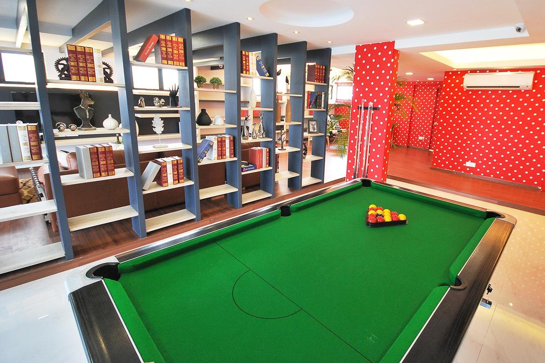 Ipoh South, The Grid Studio, Eclectic, Study, Landed, Billiard Room, Furniture, Indoors, Pool Table, Room, Table, File Binder