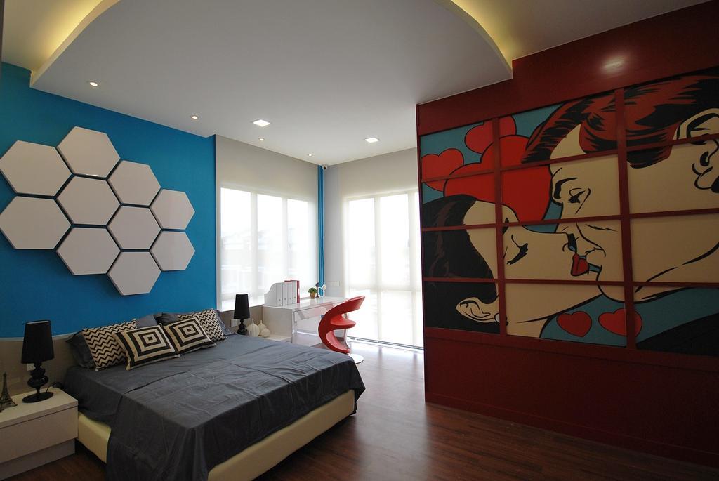 Eclectic, Landed, Bedroom, Ipoh South, Interior Designer, The Grid Studio, Indoors, Interior Design, Room