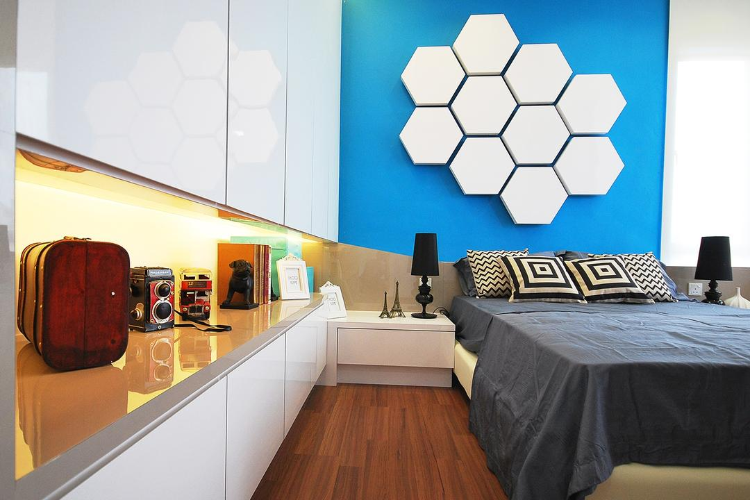 Ipoh South, The Grid Studio, Eclectic, Bedroom, Landed, Luggage, Suitcase, Indoors, Interior Design