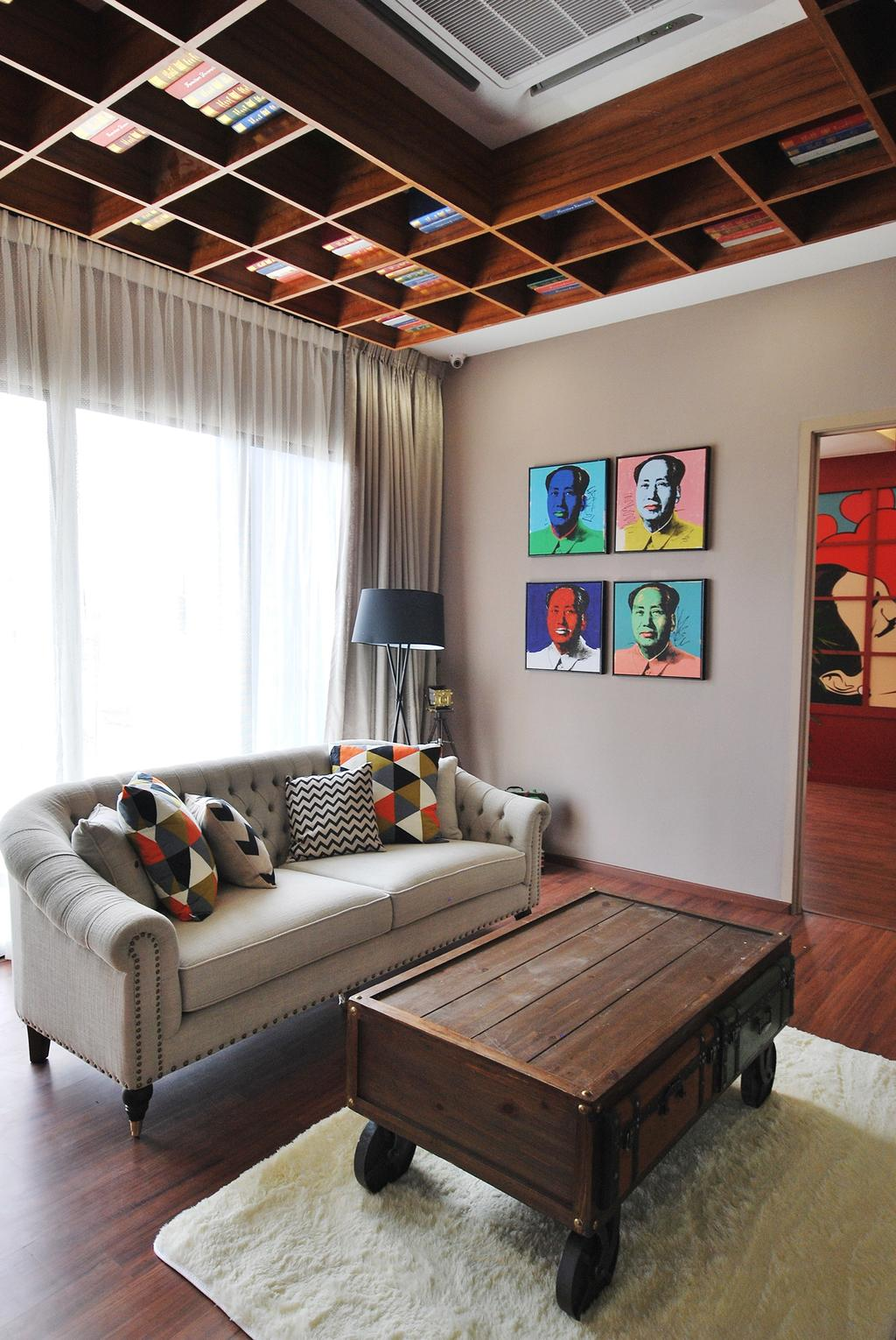 Eclectic, Landed, Living Room, Ipoh South, Interior Designer, The Grid Studio, Couch, Furniture, Bedroom, Indoors, Interior Design, Room