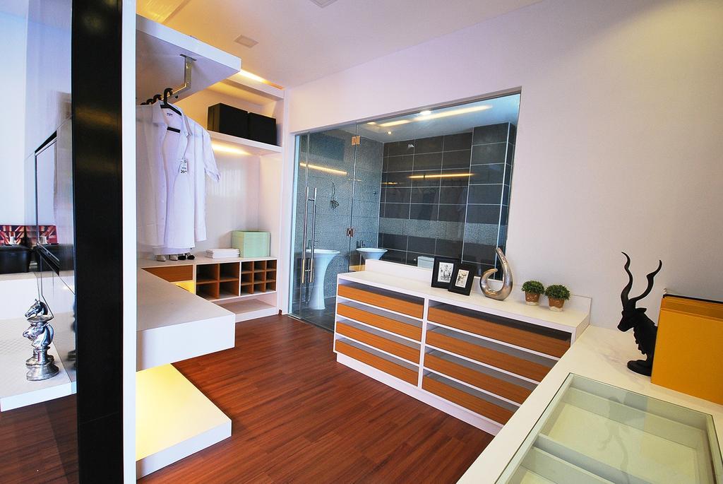 Eclectic, Landed, Bedroom, Ipoh South, Interior Designer, The Grid Studio, Flooring, Indoors, Interior Design