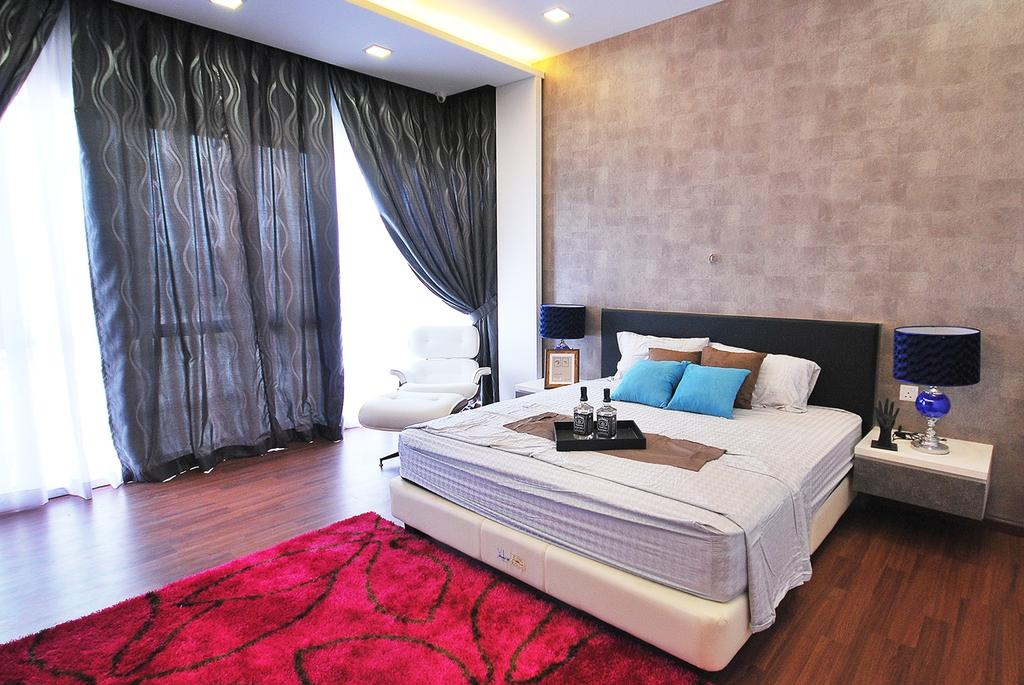 Eclectic, Landed, Bedroom, Ipoh South, Interior Designer, The Grid Studio, Curtain, Home Decor