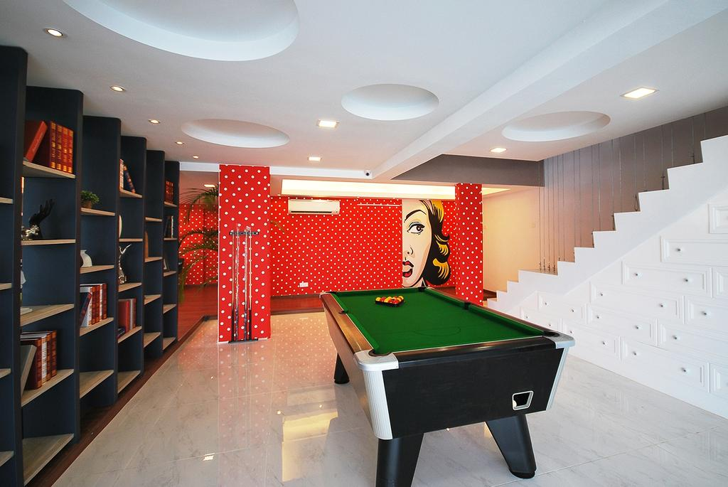 Eclectic, Landed, Study, Ipoh South, Interior Designer, The Grid Studio, Billiard Room, Furniture, Indoors, Pool Table, Room, Table, Bookcase