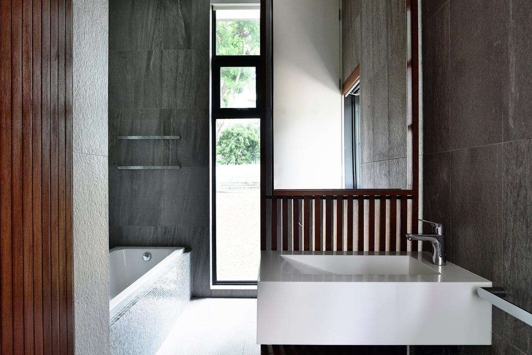 Greenwood Avenue, HYLA Architects, Modern, Bathroom, Landed, Window, Indoors, Interior Design, Room, Aluminium