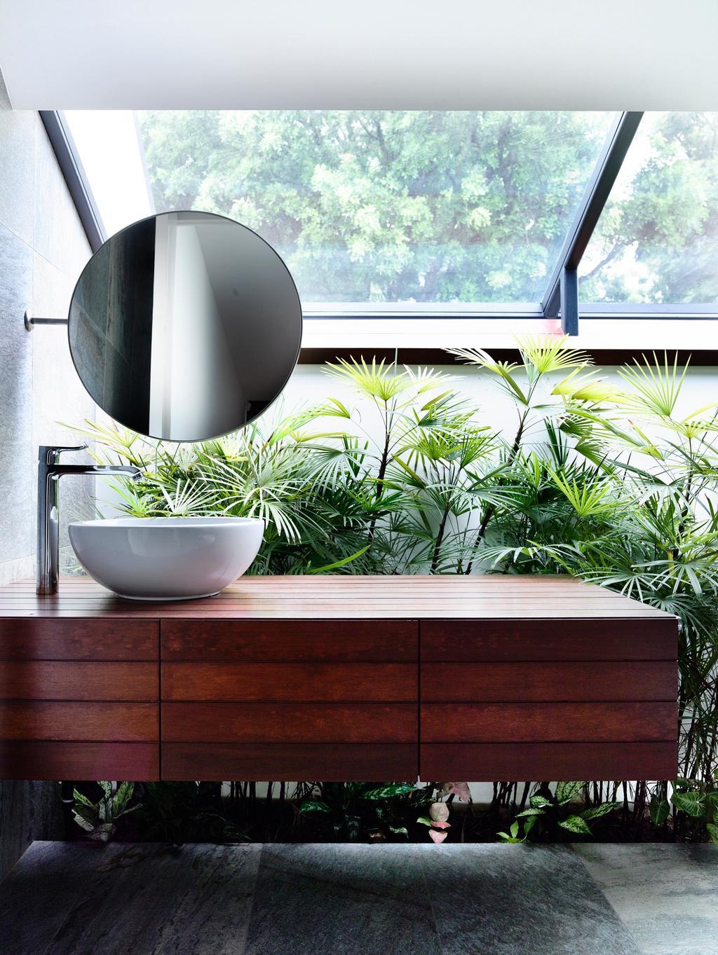 Modern, Landed, Bathroom, Greenwood Avenue, Architect, HYLA Architects, Flora, Herbs, Jar, Plant, Planter, Potted Plant, Pottery, Vase, Arecaceae, Palm Tree, Tree, Pot
