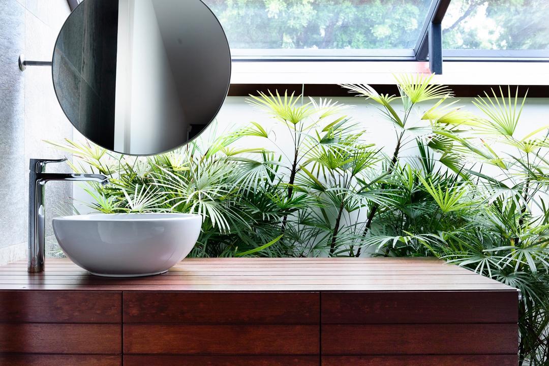 Greenwood Avenue, HYLA Architects, Modern, Bathroom, Landed, Flora, Herbs, Jar, Plant, Planter, Potted Plant, Pottery, Vase, Arecaceae, Palm Tree, Tree, Pot