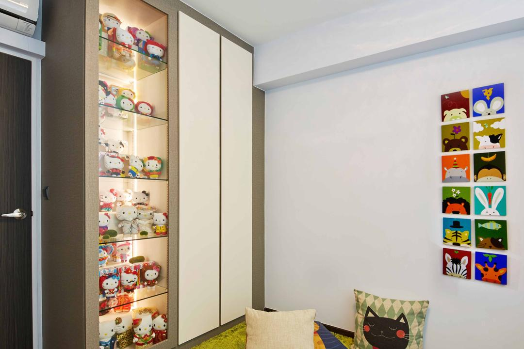 Fernvale Link (Block 415C), i-Chapter, Modern, Study, HDB, Carpet, Cosy Corner, Cushions, Toys, Cute, Display Cabinet, Cabinetry, Collection, Collectible