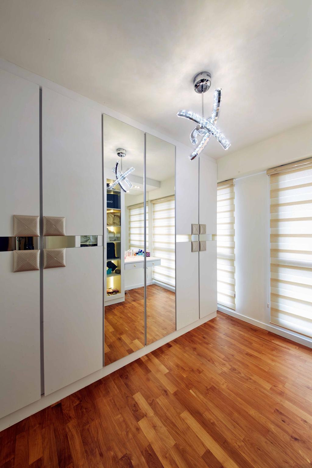 Modern, HDB, Bedroom, SkyTerrace@Dawson (Block 90), Interior Designer, i-Chapter, Door, Sliding Door
