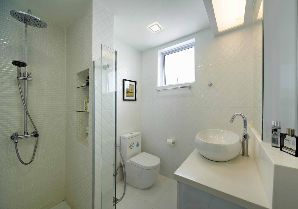 Transitional, Landed, Bathroom, Countryside View, Interior Designer, i-Chapter, Shower Head, Rainshower, Vessel Sink, Water Closet, Toilet Bowl, Sink, Indoors, Interior Design, Room
