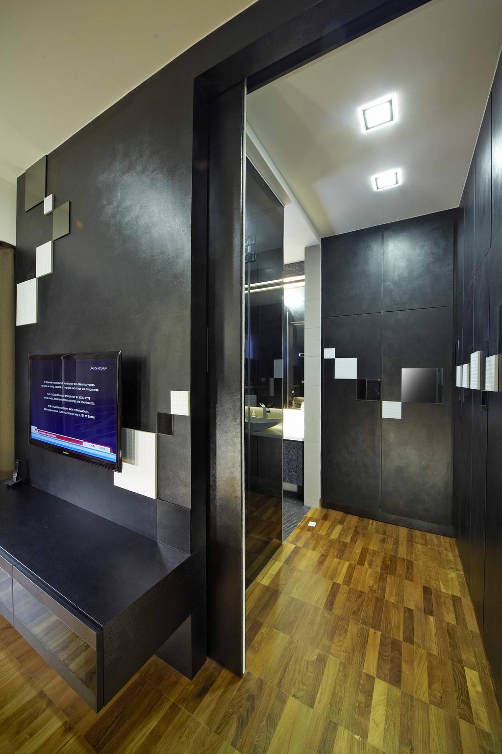 Transitional, Landed, Bedroom, Countryside View, Interior Designer, i-Chapter, , Geometric, Patterns, Bathroom, Indoors, Interior Design, Room