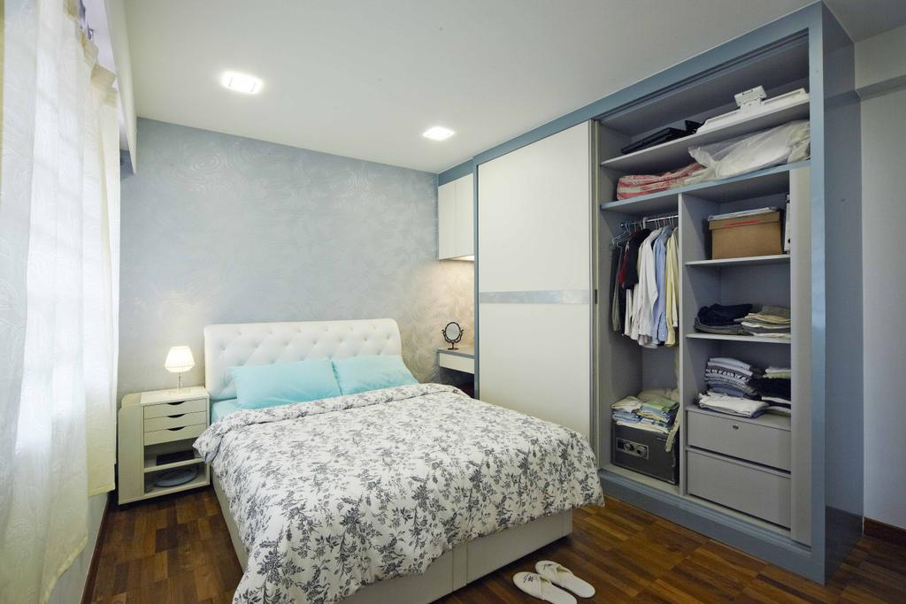 Transitional, Landed, Bedroom, Countryside View, Interior Designer, i-Chapter, Wardrobe, Clothes, Clothing, Storage, Storage Space, Bed, Furniture, Appliance, Electrical Device, Oven, Shelf