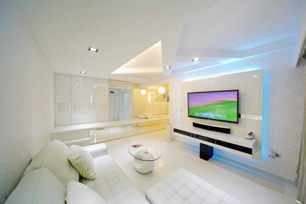 Minimalistic, HDB, Living Room, Punggol Drive (Block 615B), Interior Designer, i-Chapter, Indoors, Interior Design, Room