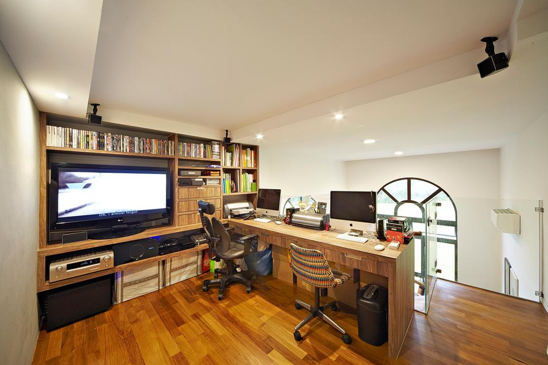 Selataris, Carpenters 匠, Eclectic, Study, Condo, Study Table, Computer Desk, Work Station, Work Area, Chairs, Desktop, Computer, Office Chair, Wood Floor, Wooden Flooring, Bookcase, Bookshelf, Books, Flooring, Electronics, Entertainment Center, Appliance, Electrical Device, Oven, Indoors, Room
