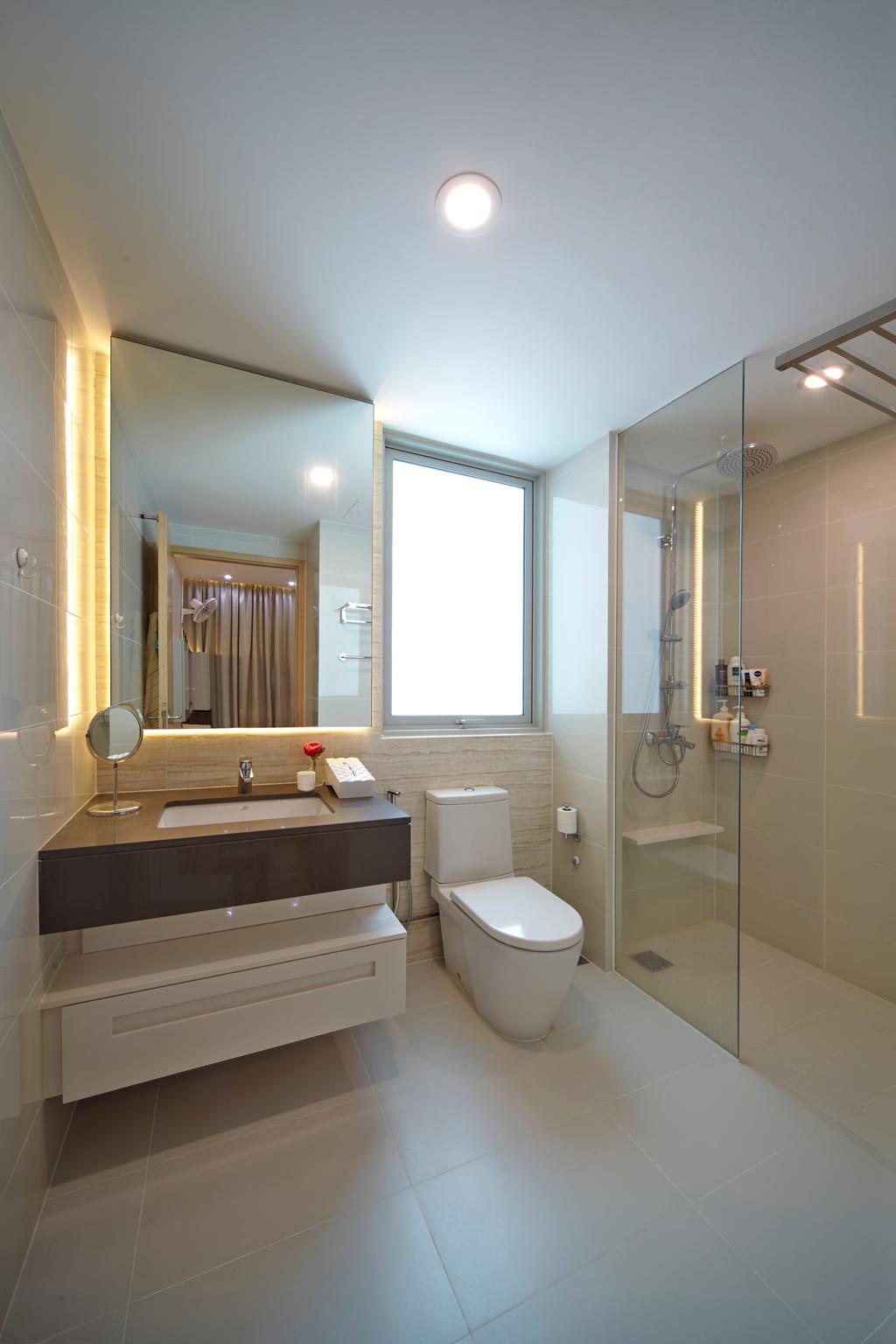 Transitional, Condo, Bathroom, Tree House, Interior Designer, Carpenters 匠, Bathroom Vanity, Bathroom Cabinet, Mirror, Water Closet, Toilet Bowl, Shower Area, Shower Screen, Clean, Clean Bathroom, Indoors, Interior Design, Room