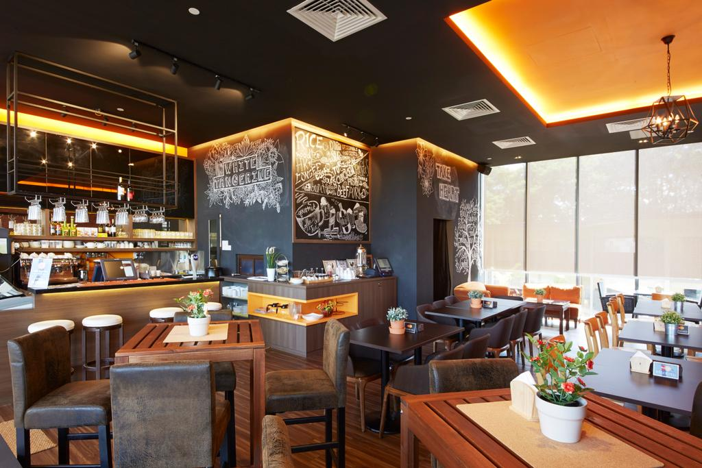 White Tangerine, Commercial, Interior Designer, Carpenters 匠, Contemporary, Cafe, Restaurant, Bistro, Dining Table, Wood, Woody, , Plant Decor, Plant, Concealed Lighting, Cove Lighting, Bar, Bar Counter, Counter, Warm Lights, Yellow Lighting, Flora, Jar, Potted Plant, Pottery, Vase, Couch, Furniture, Chair, Pub