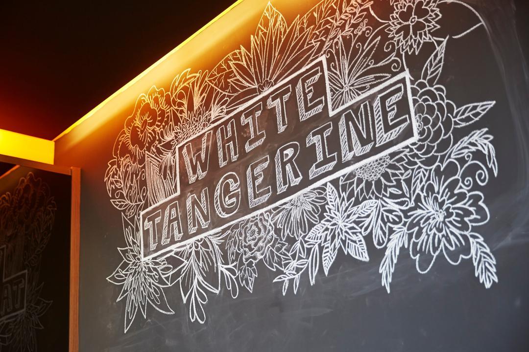 White Tangerine, Carpenters 匠, Contemporary, Commercial, Chalkboard, Decor, Blackboard