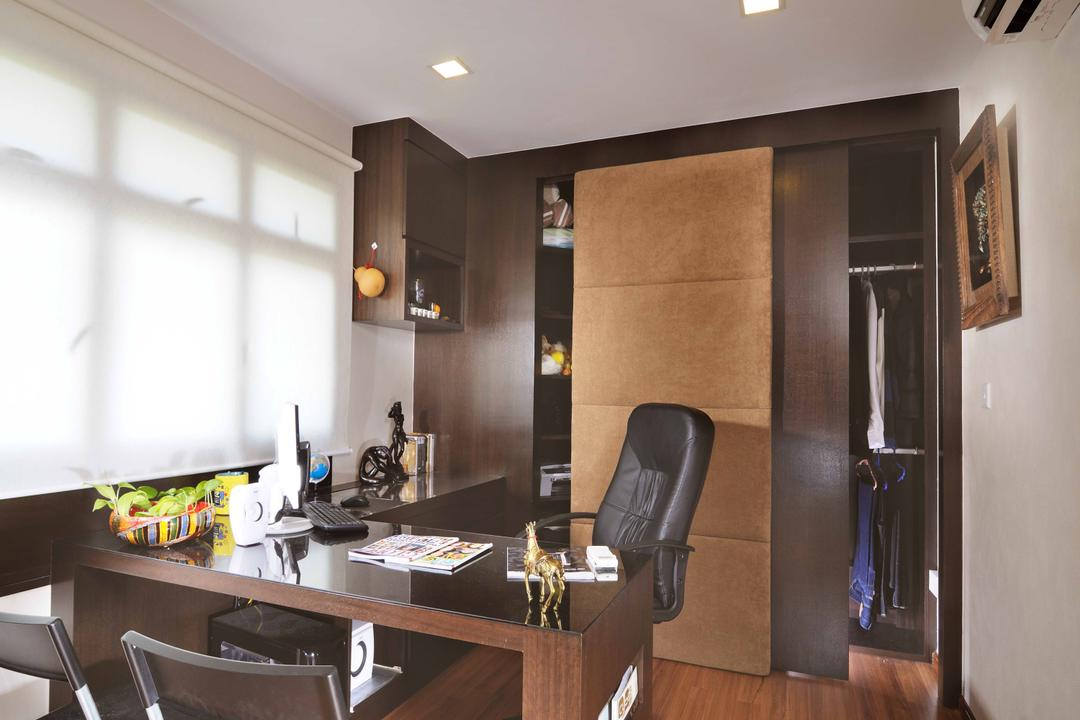 Redhill (Block 75C), Innerspace Design Solutions, Traditional, Study, HDB, Study Chair, Roller Chair, Study Desk, Wardrobe, Downl Ights, Parquet, Chair, Furniture, Dining Room, Indoors, Interior Design, Room
