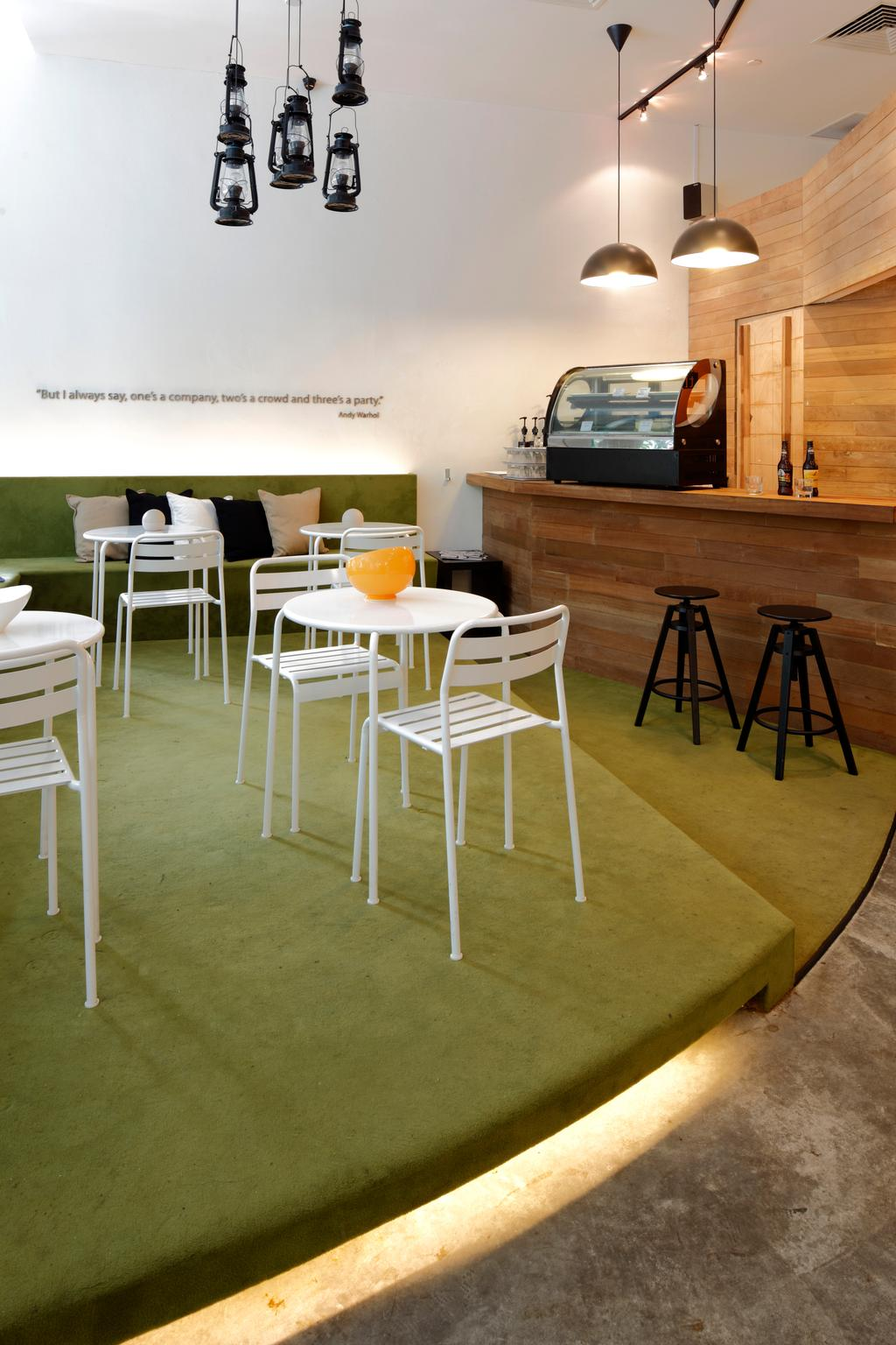 The Lawn, Commercial, Architect, EHKA Studio, Minimalistic, Dining Table, Furniture, Table, Chair, Bar Stool, Electronics, Entertainment Center