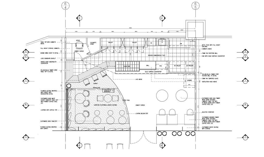 The Lawn, Commercial, Architect, EHKA Studio, Minimalist, Floor Plan, Diagram, Plan