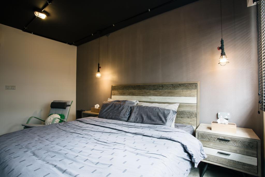 Industrial, HDB, Bedroom, Macpherson Residency, Interior Designer, Free Space Intent, Indoors, Interior Design, Room