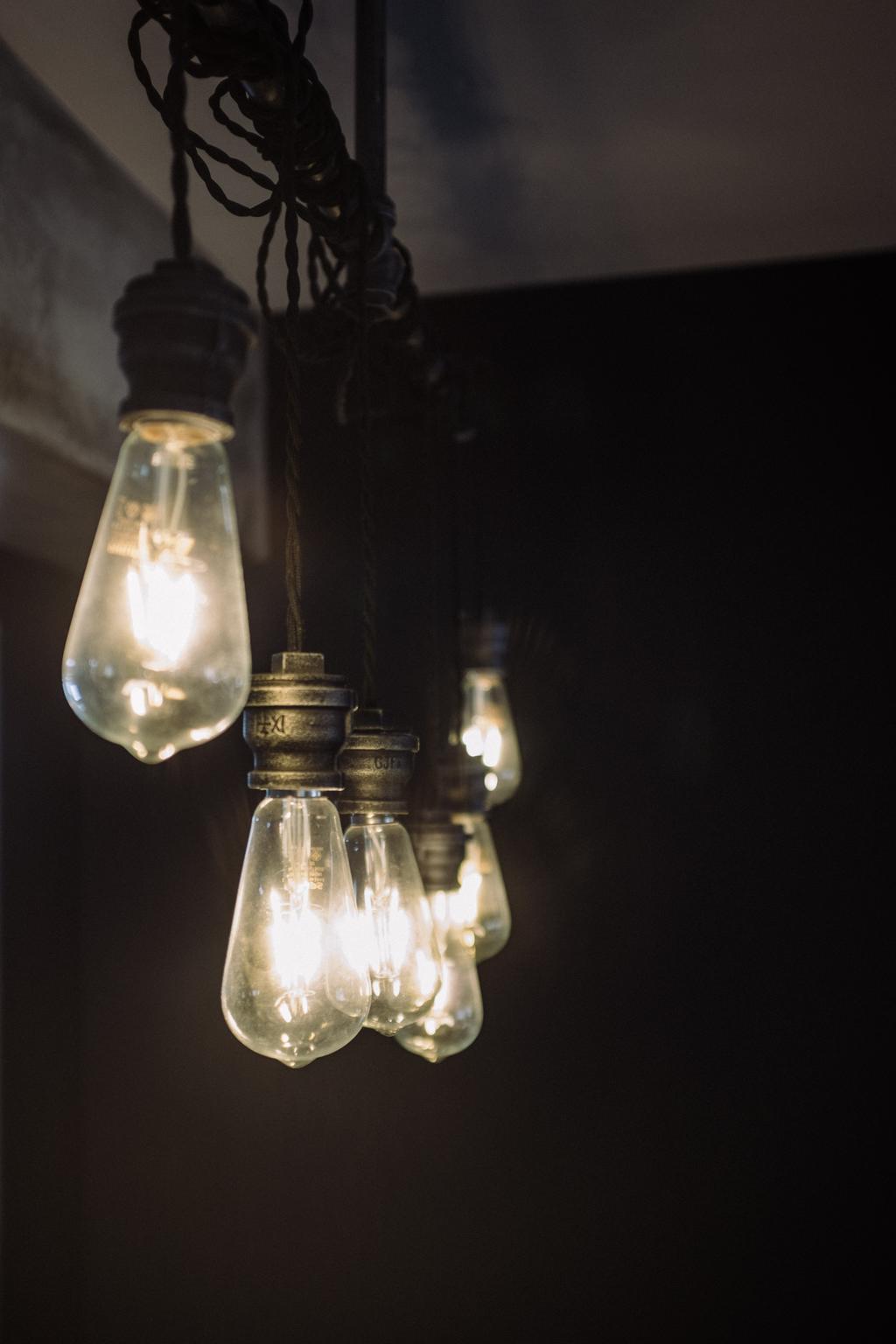 Industrial, HDB, Kitchen, Macpherson Residency, Interior Designer, Free Space Intent, Light Bulb, Light Bulb Industrial Lamp, Light, Lightbulb