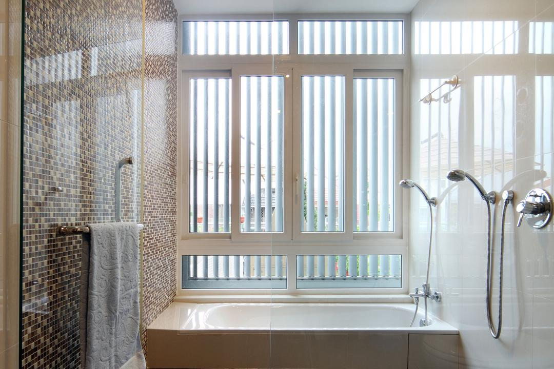Lorong Salleh (Block 16A), The Scientist, Contemporary, Modern, Bathroom, Landed, Neutral Colours, Rainshower, Zen, Light Brown, Hotel Style, Shower Screen, Bright, Indoors, Interior Design, Room