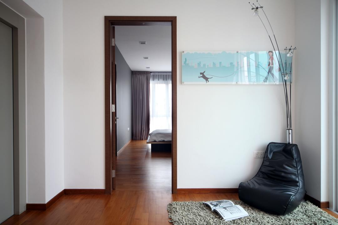 Lorong Salleh (Block 16A), The Scientist, Contemporary, Modern, Bedroom, Landed, Beanbag, Carpet, Shaggy Carpet, Wall Frame, Wall Decor, Wood Floor, Wooden Flooring, Indoors, Interior Design, Room, Chair, Furniture
