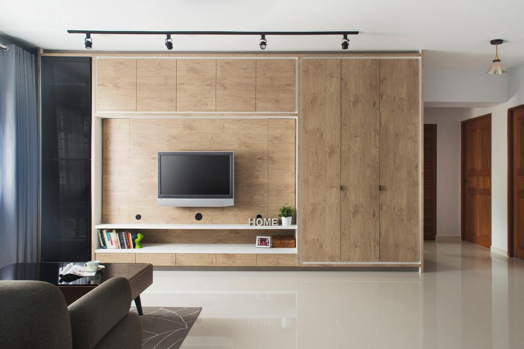 Light Brown Feature Wall Interior Design Singapore
