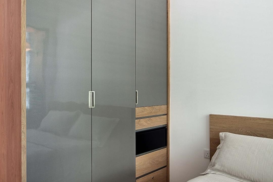 The Gale, The Scientist, Modern, Scandinavian, Bedroom, Condo, Wardrobe, Grey Wardrobe, Grey And Wood, Door, Sliding Door, Cabinet, Furniture