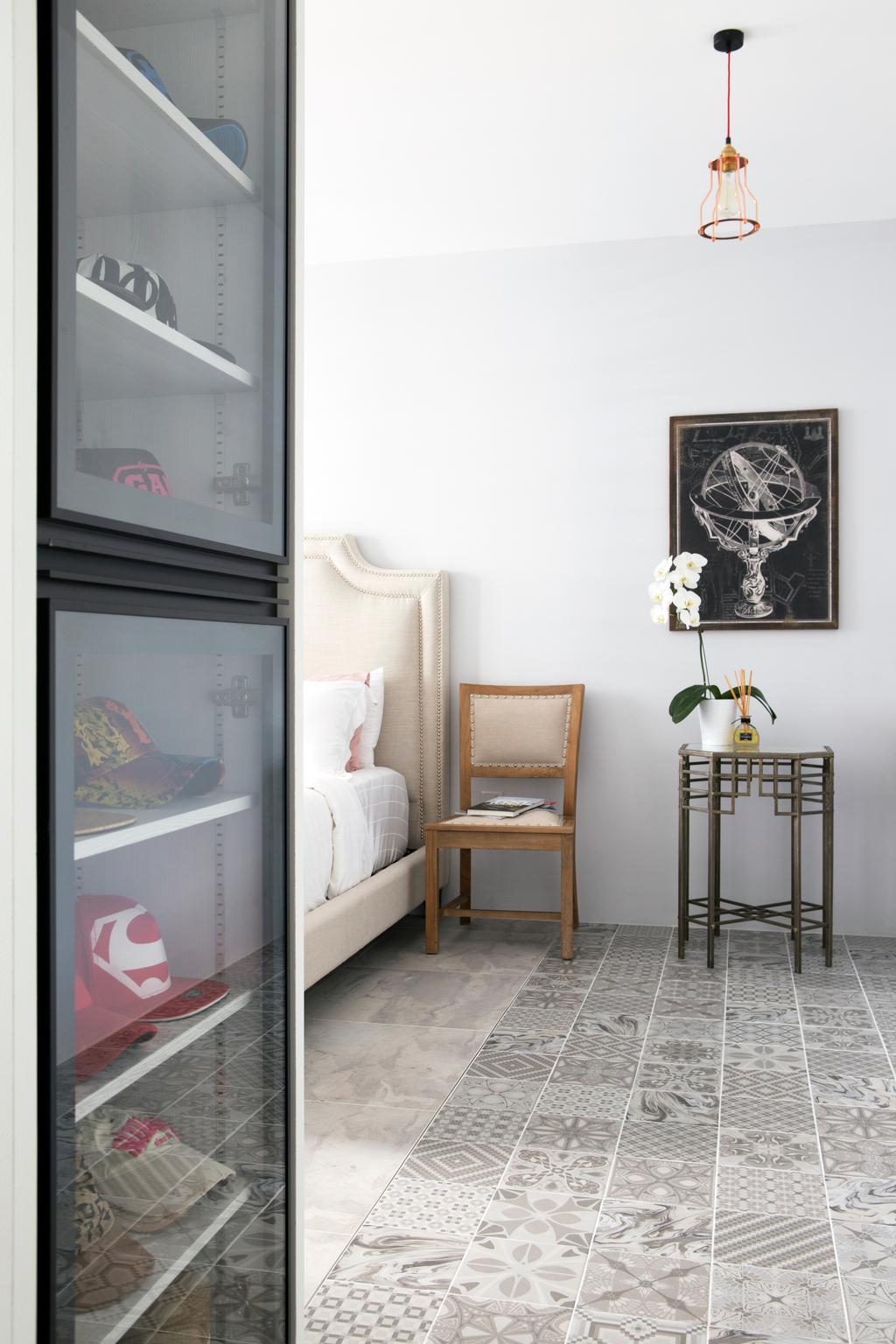 Minimalist, HDB, Bedroom, Punggol Way (Block 260C), Interior Designer, The Scientist, Modern, Chair, Furniture, Indoors, Nursery, Room