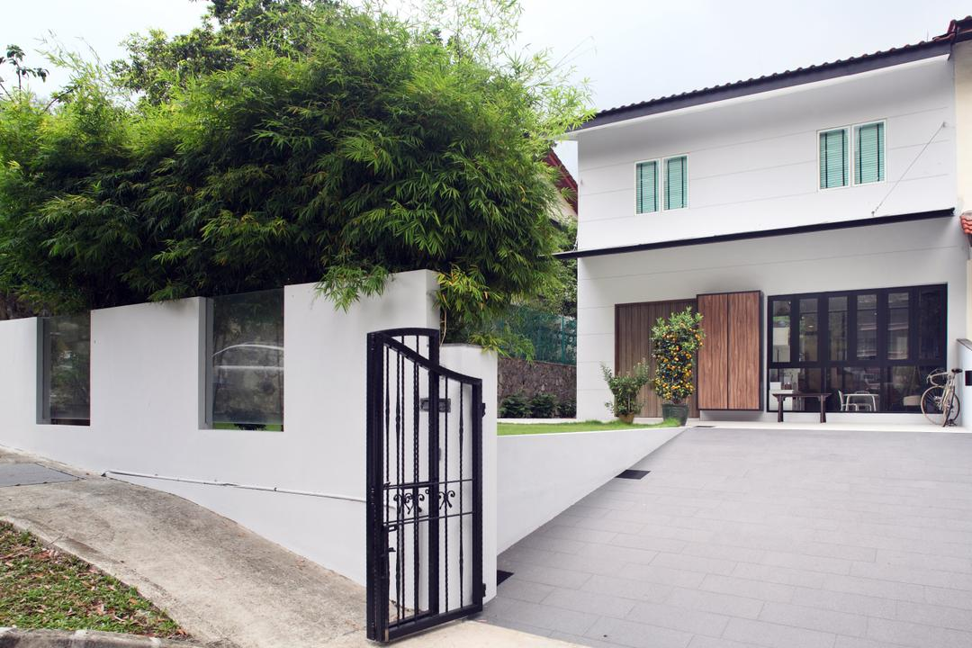 Chu Lin Road, The Scientist, Contemporary, Landed, Porch, Foyer, Grille, Gate, Entrance, Garage, Parking Of Car, Compound, Flora, Jar, Plant, Potted Plant, Pottery, Vase