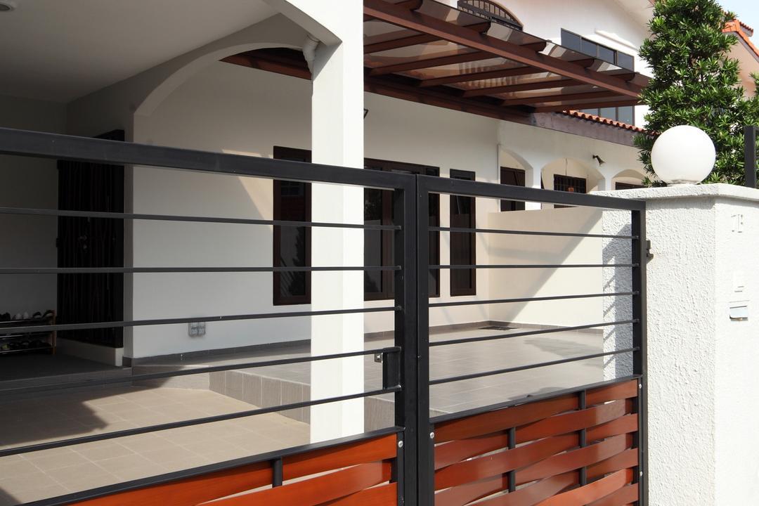 Jalan Ismail, Chapter One Interior Design, Modern, Landed, Gates, Outdoors, Exterior, Awning, Columns, Flora, Jar, Plant, Potted Plant, Pottery, Vase