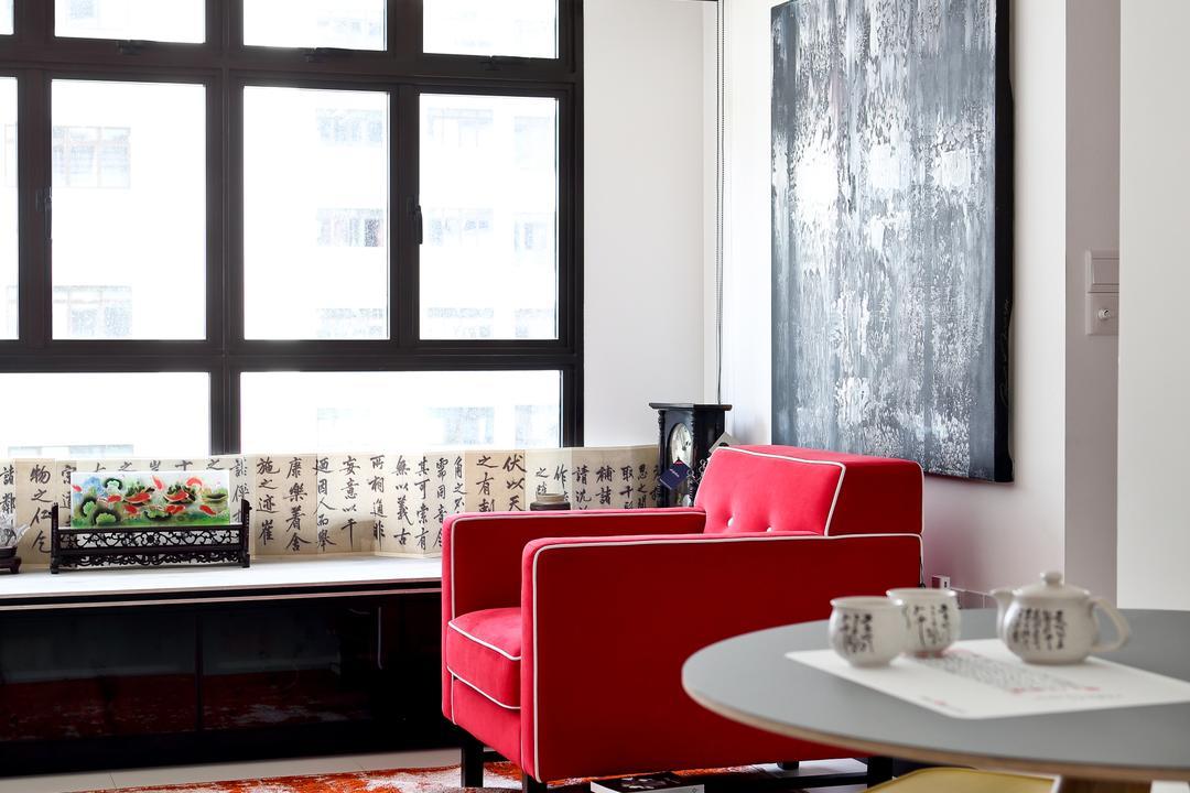 Tampines (Block 869B), The Scientist, Eclectic, Living Room, HDB, Stools, Walkway, Hallway, Window Ledge