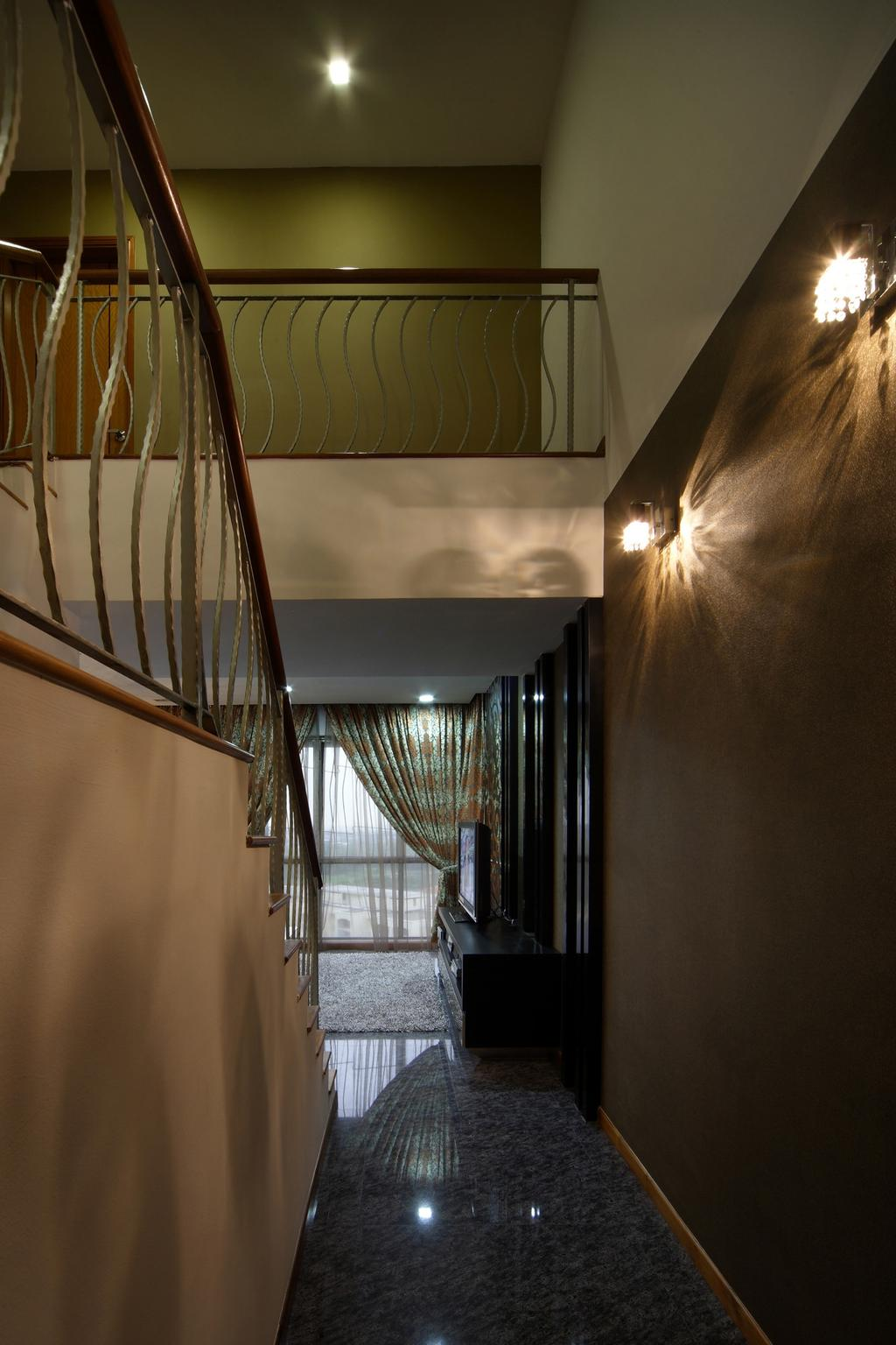 Traditional, Condo, The Florida, Interior Designer, Chapter One Interior Design, Handrails, Wall Lamp, Marble Flooring, Full Length Windows, Brown, Railing, Banister, Handrail, Staircase