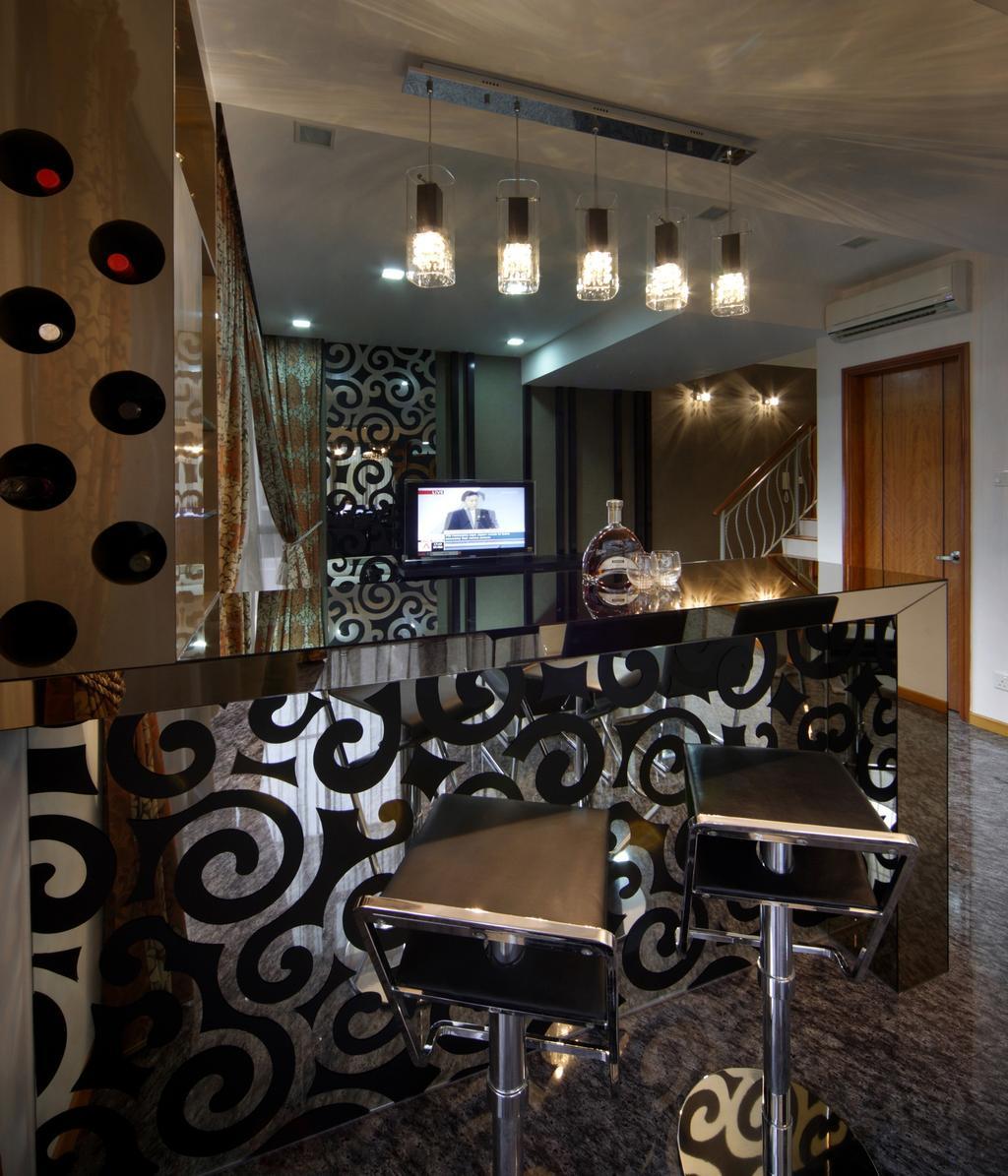 Traditional, Condo, Living Room, The Florida, Interior Designer, Chapter One Interior Design, Mirror, Hanging Light, Pendant Light, Lighting, Barstools, Bar Counter, Storage, Cubbyholes, Shelf, Shelves, White