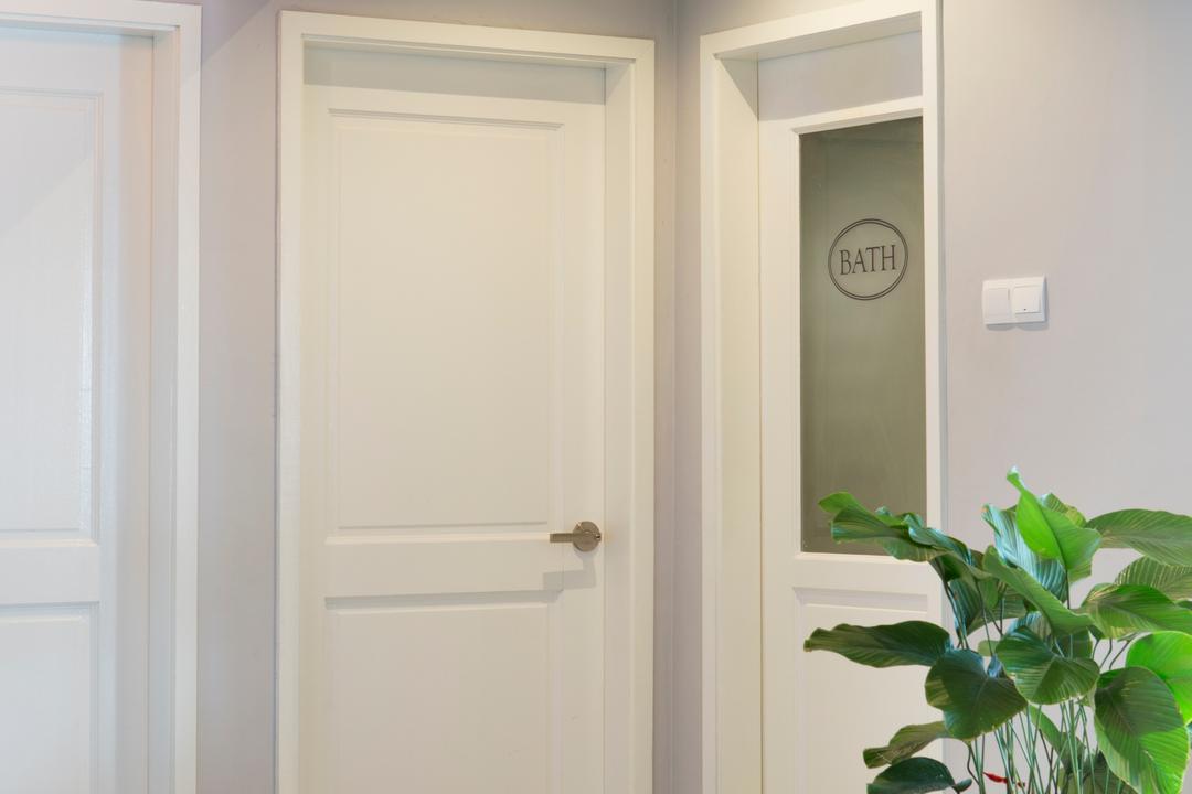 Bukit View, The Scientist, Retro, Living Room, Condo, Trimmings On Door, White Door, Hallway, Door Design, Flora, Jar, Plant, Potted Plant, Pottery, Vase, Door, Folding Door