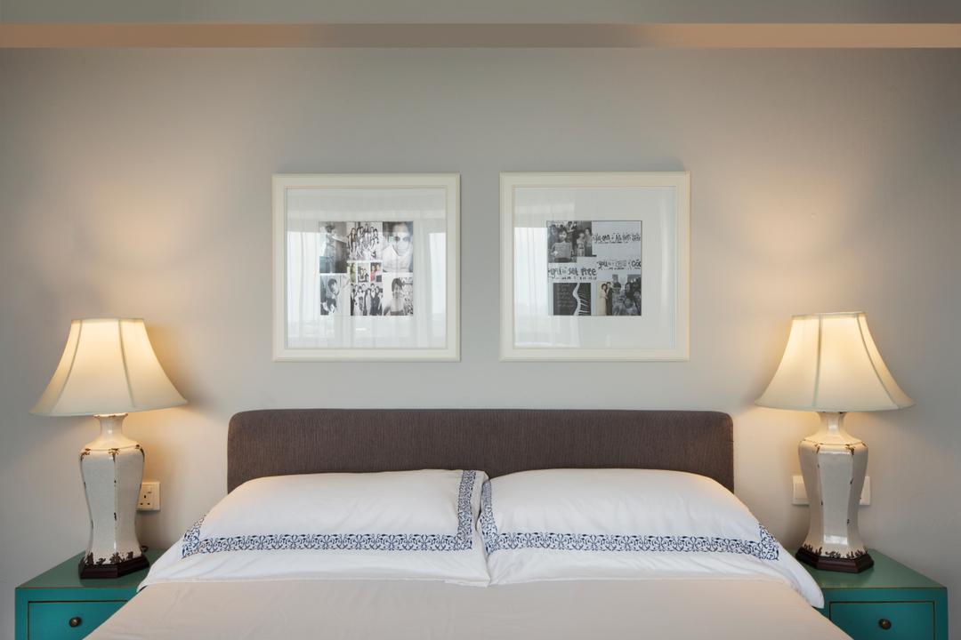 Bukit View, The Scientist, Retro, Bedroom, Condo, Bedside Table, Bedside Lamps, Headboard, Vintage Tables, Vintage Lamps, Lamp, Indoors, Interior Design, Room
