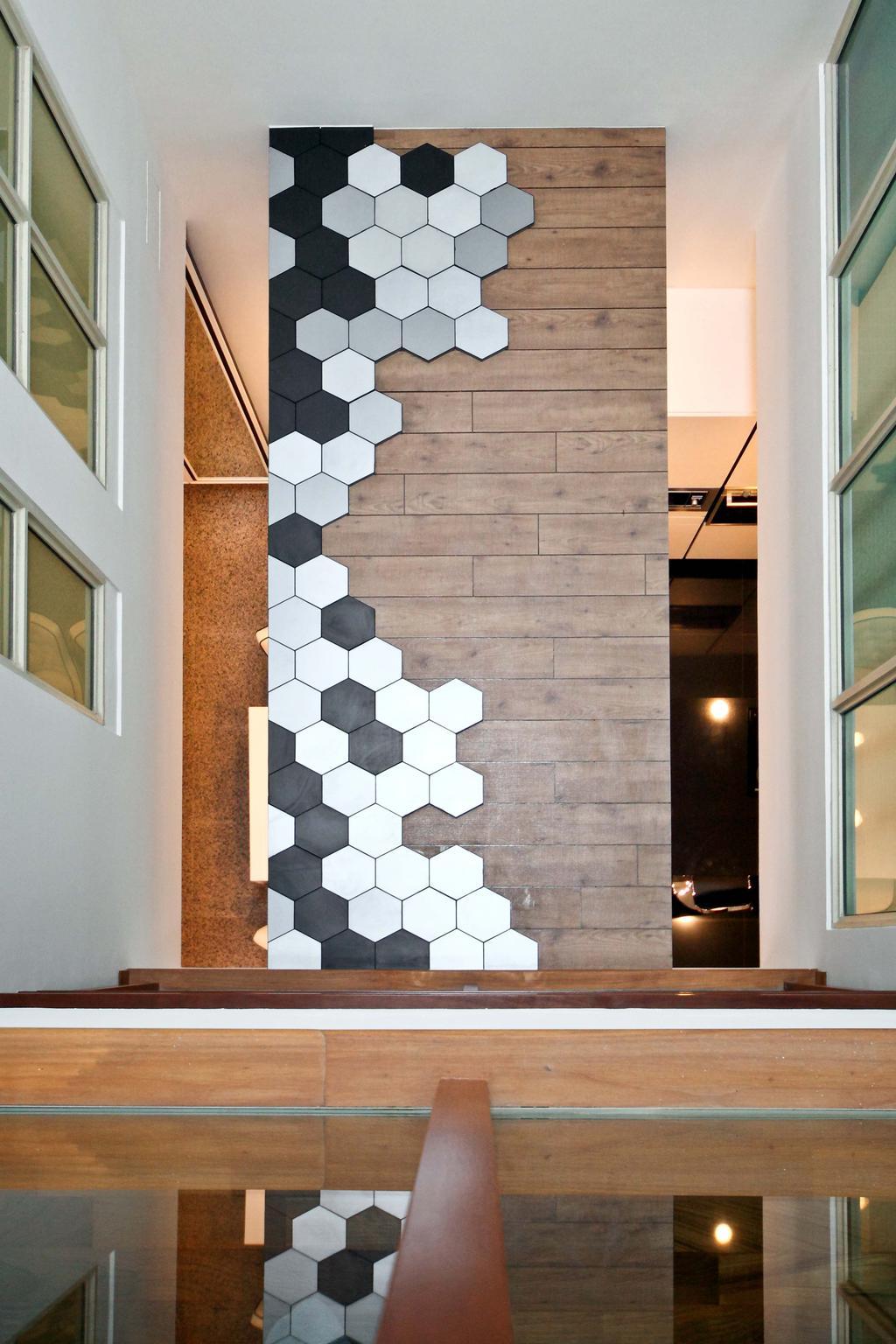Contemporary, Landed, Living Room, Mimosa Drive, Interior Designer, The Scientist, Modern, Indoors, Interior Design, Banister, Handrail