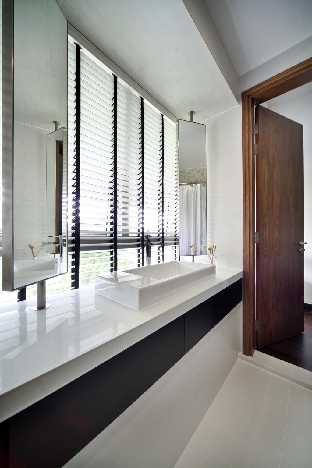 Contemporary, Condo, Bathroom, Jardin, Interior Designer, The Scientist, Venetian Blinds, Blinds, Vanity Basin, Long Mirrors, Indoors, Interior Design