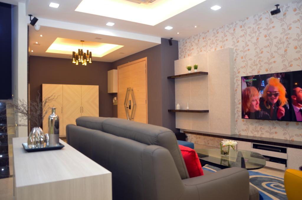 Contemporary, Landed, Living Room, Mahkota Height, Interior Designer, Azamhadi Interior Designer, Couch, Furniture, Indoors, Interior Design, Bottle