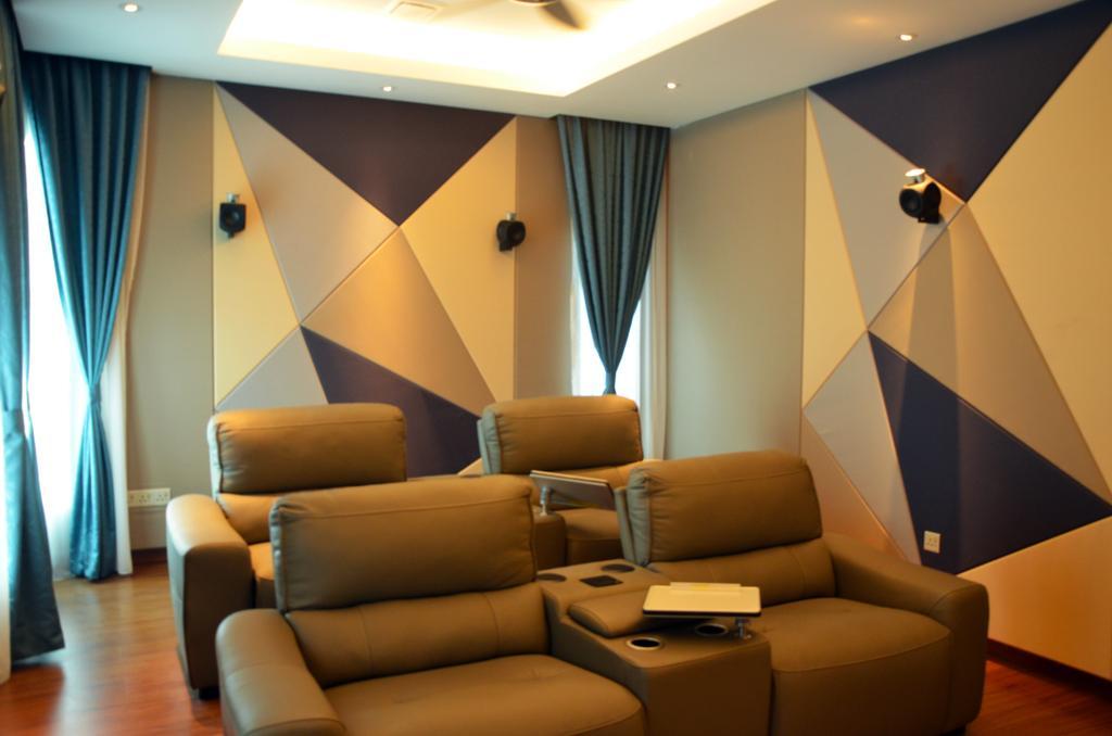 Contemporary, Landed, Living Room, Mahkota Height, Interior Designer, Azamhadi Interior Designer, Couch, Furniture, Indoors, Interior Design, Chair