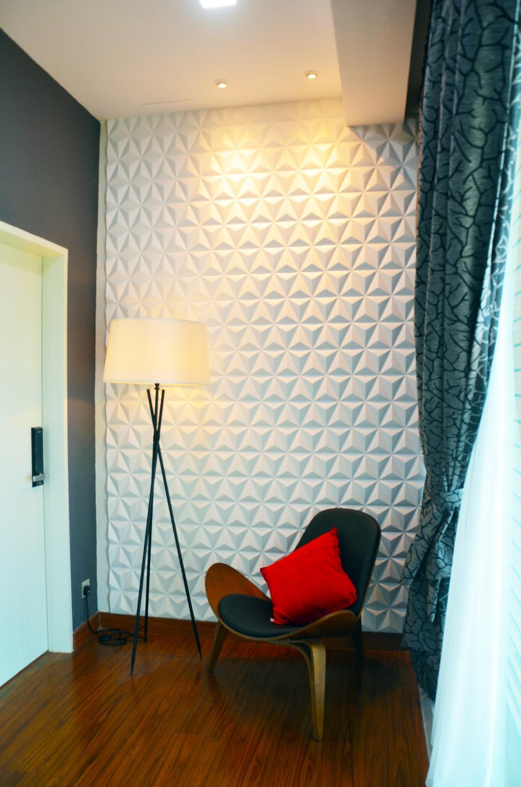 Contemporary, Landed, Bedroom, Mahkota Height, Interior Designer, Azamhadi Interior Designer, Lamp, Lampshade
