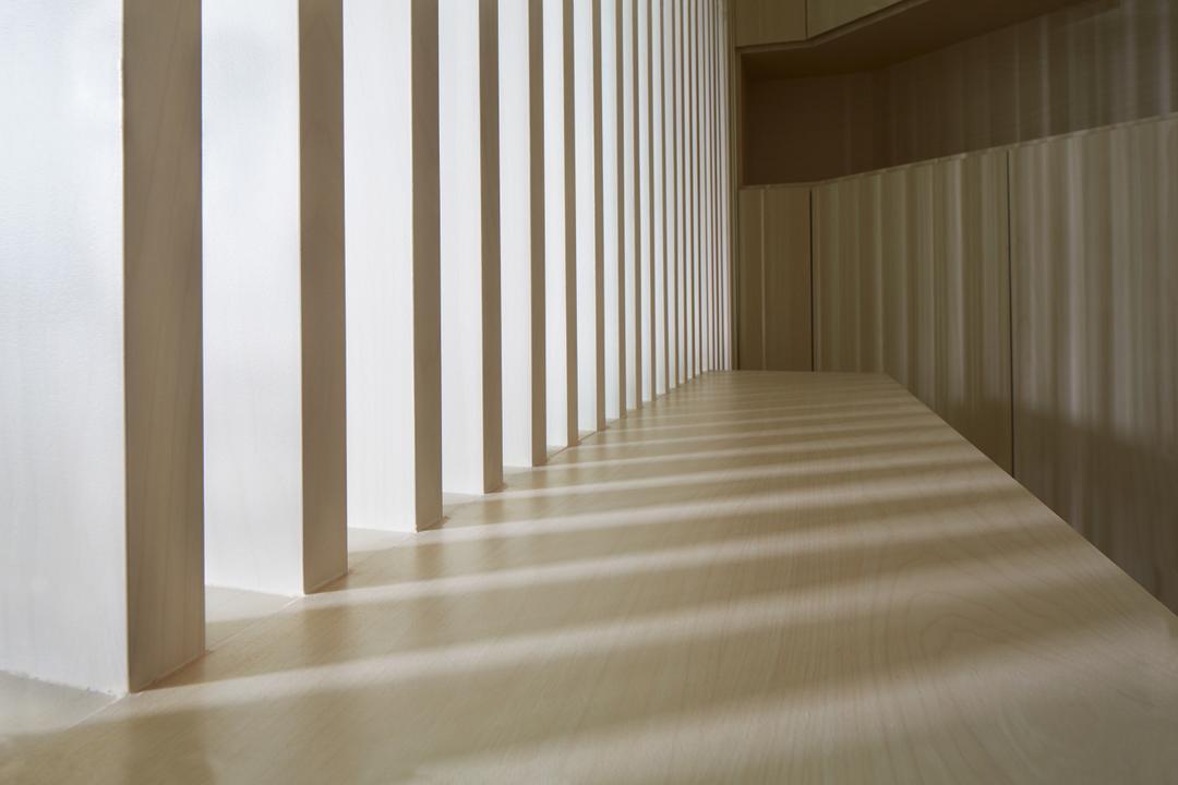 8 Courtyards, asolidplan, Minimalistic, Living Room, Condo, Walkway, Passage Way, Beams, Pillar, Pillars, Zen Corridor, Corridor