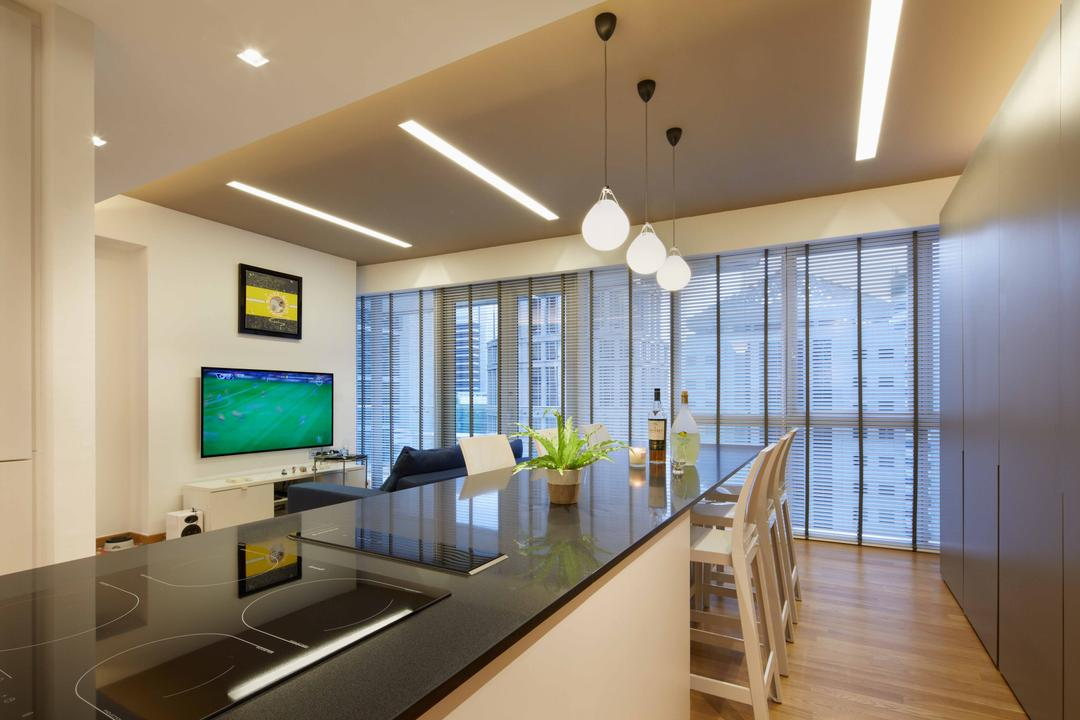 One Shenton, asolidplan, Contemporary, Dining Room, Condo, Black Counter Top, Counter Top, Reflective Top, Black Glass Top, Glass Top Counter, Counter Glass Top, Reflective Black Counter Top, Electrical Hob, Electrical Cooking Hob, Black Cooking Hob, Indoors, Interior Design, Banister, Handrail