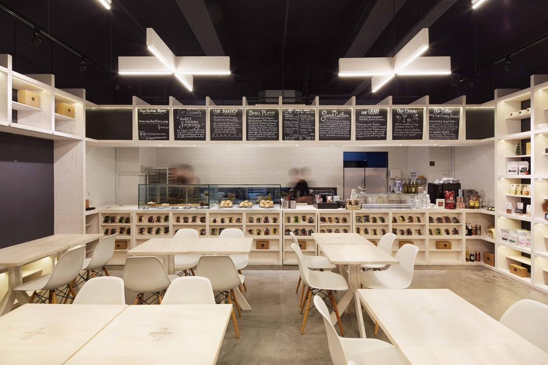Snack Culture, asolidplan, Modern, Living Room, Commercial, Spacious Shop, Functional, Simple And Functional, Minimalist, Bright And Airy, Order Counter, Big Order Counter, Clak Board, Black Board, Black Borad Menu, Panels, Chair, Furniture, Restaurant, Sink, Lighting, Dining Table, Table