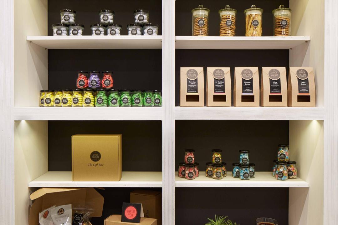 Snack Culture, asolidplan, Modern, Commercial, Shop Display, Simple Display, White Shelves, Shelf