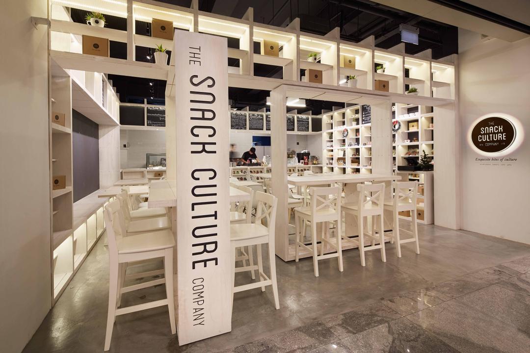 Snack Culture, asolidplan, Modern, Commercial, Grey Floor, Sack Store, Unique Shop, White Unique Shop, Snack Shop, Open Concept Shop, Dining Table, Furniture, Table, Chair