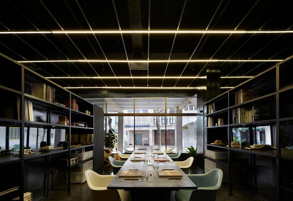Solid with Asolidplan, Commercial, Architect, asolidplan, Contemporary, Contemporary Office, Black And Grey Office, Glass Panels, Office Glass Panels, Dining Table, Furniture, Table, Restaurant, Dining Room, Indoors, Interior Design, Room