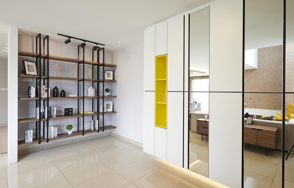 Minimalistic, Landed, Living Room, Aman Putri, Interior Designer, Think Studio, Indoors, Interior Design